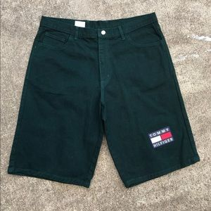 Tommy Hilfiger Green Denim Shorts size 36